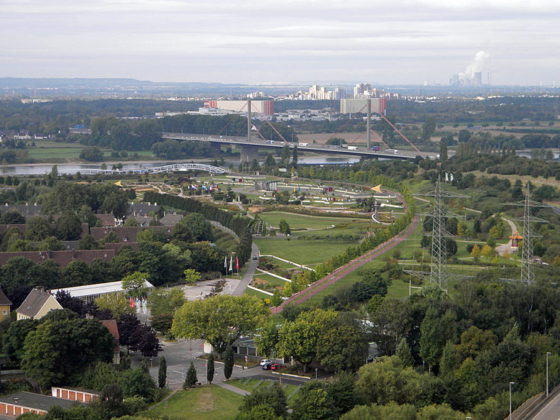 Bird's eye view of the Neuland-Park